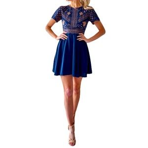 Two Sisters the Label PEYTON Dress Navy Lace